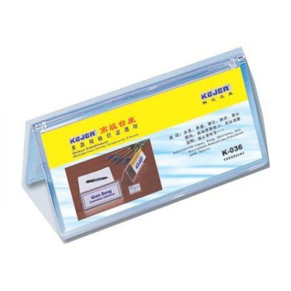 Ecuson nume pentru birou,100 x 220mm, KEJEA - transparent