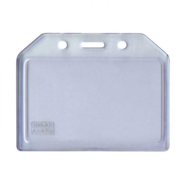Buzunar PVC flexibil, pentru ID carduri, 105 x 74mm, orizontal, 5 buc/set, KEJEA - transparent