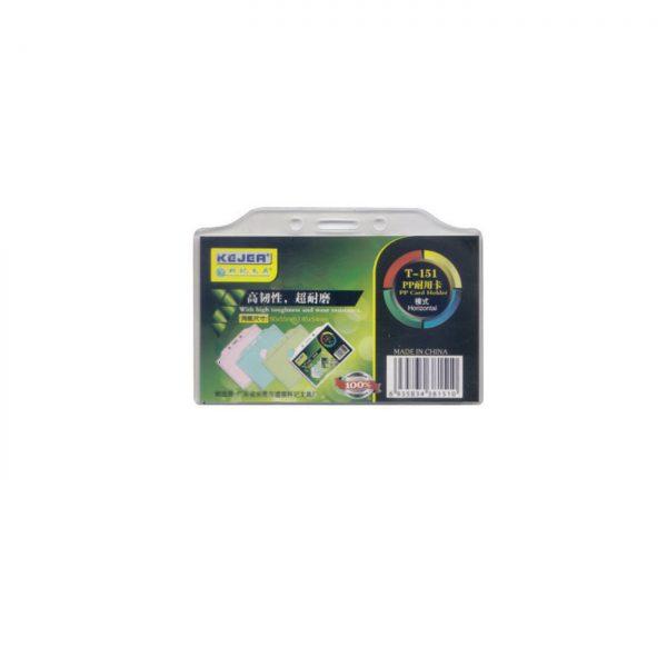 Suport PP pentru carduri, 90 x 55mm, orizontal cu sistem de agatare, 10 buc/set, KEJEA - transp.
