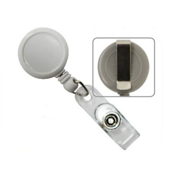 Snur retractabil pentru ecuson, rotund-D20mm, clips curea, KEJEA - culori asortate