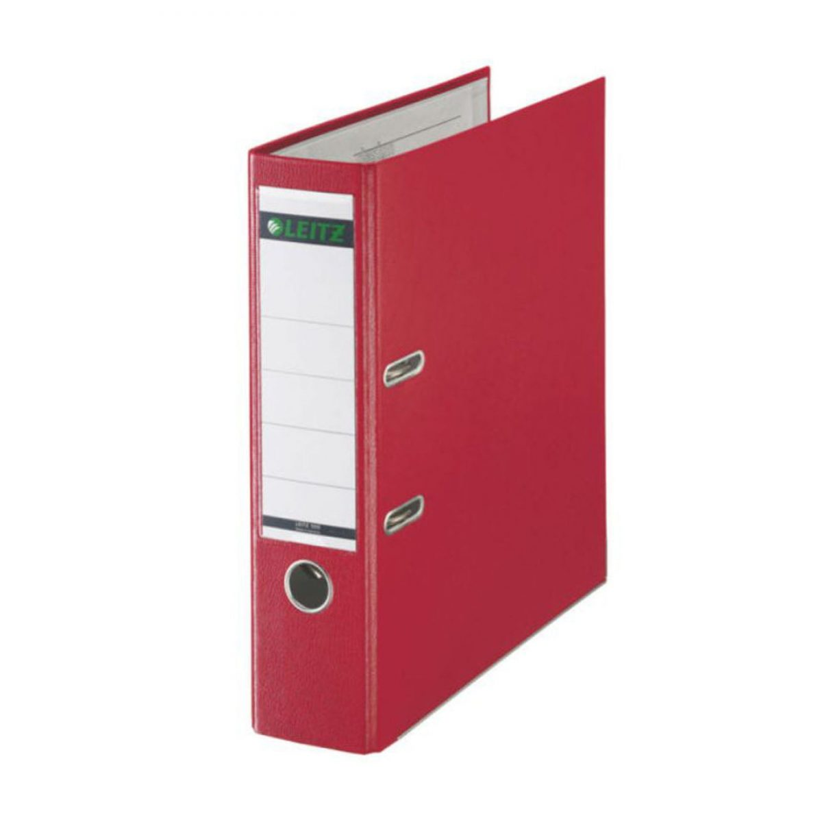 Biblioraft LEITZ 180, A4, plastifiat PP, margine metalica 80 mm - rosu