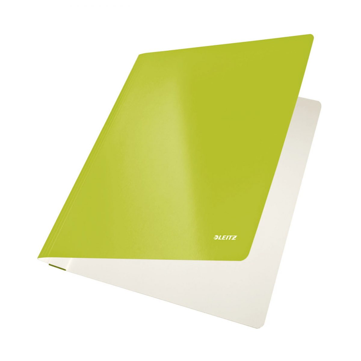 Dosar carton LEITZ Wow cu sina, capacitate 250 coli - verde metalizat
