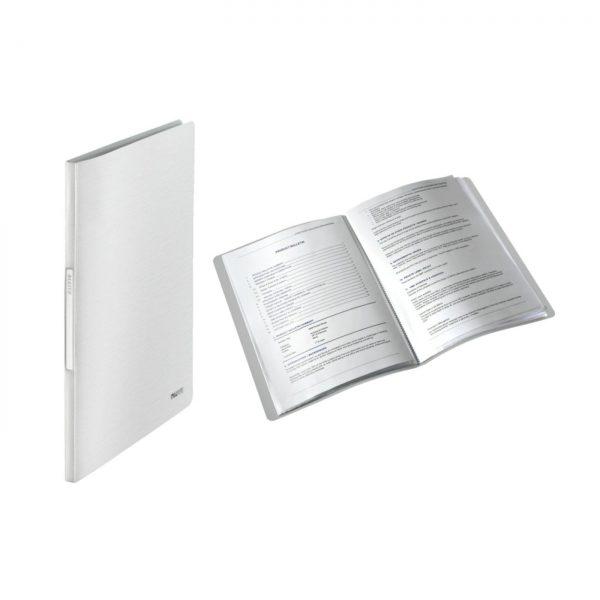 Mapa LEITZ Style, de prezentare, plastic PP, 20 de folii - alb arctic