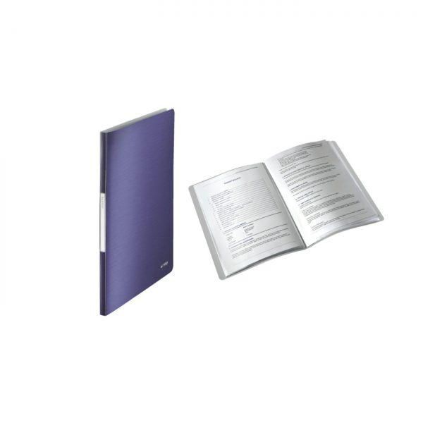 Mapa LEITZ Style, de prezentare, plastic PP, 20 de folii - albastru-violet