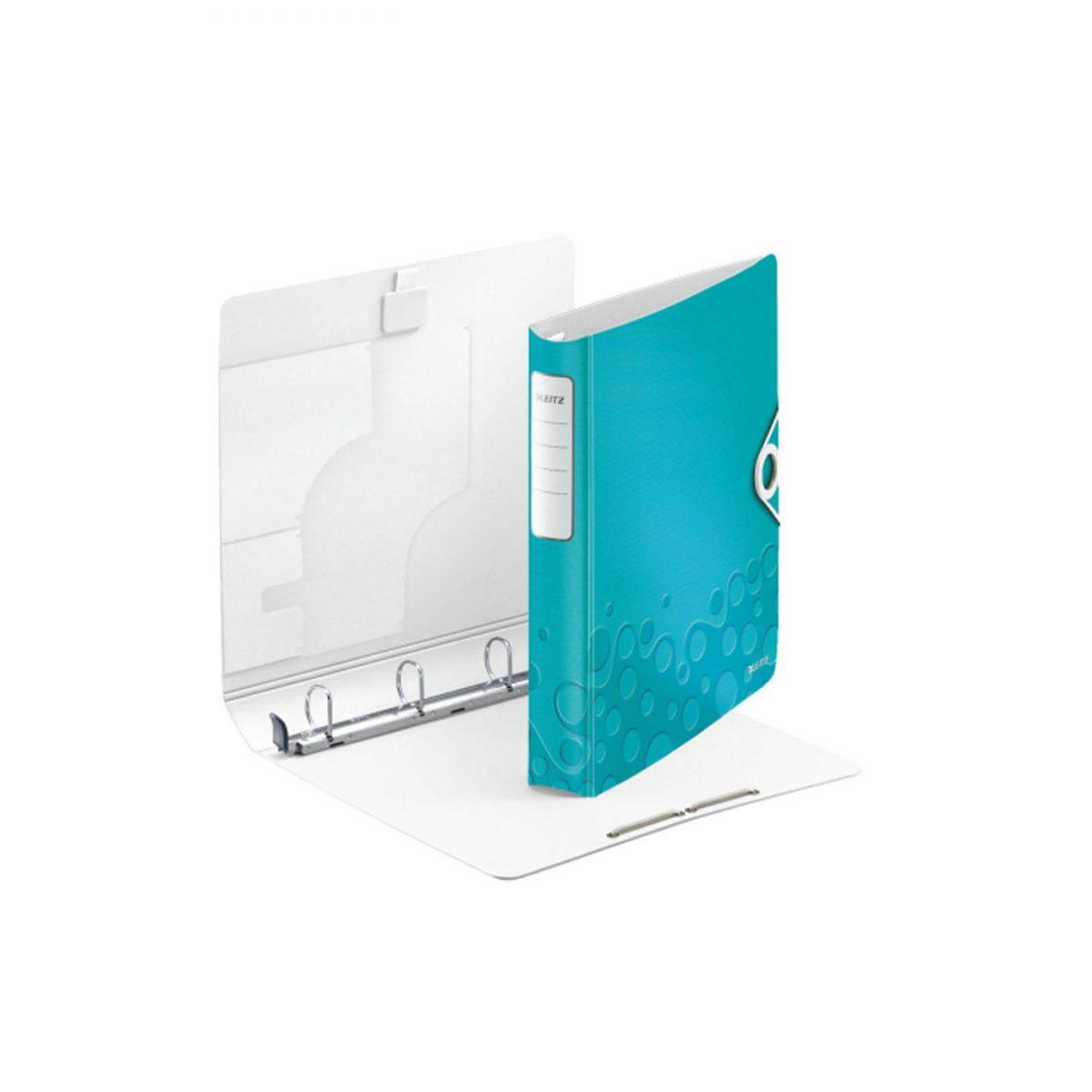 Caiet mecanic LEITZ Active Wow SoftClick, mecanism 4DR, inel 30mm, polyfoam - turcoaz metalizat