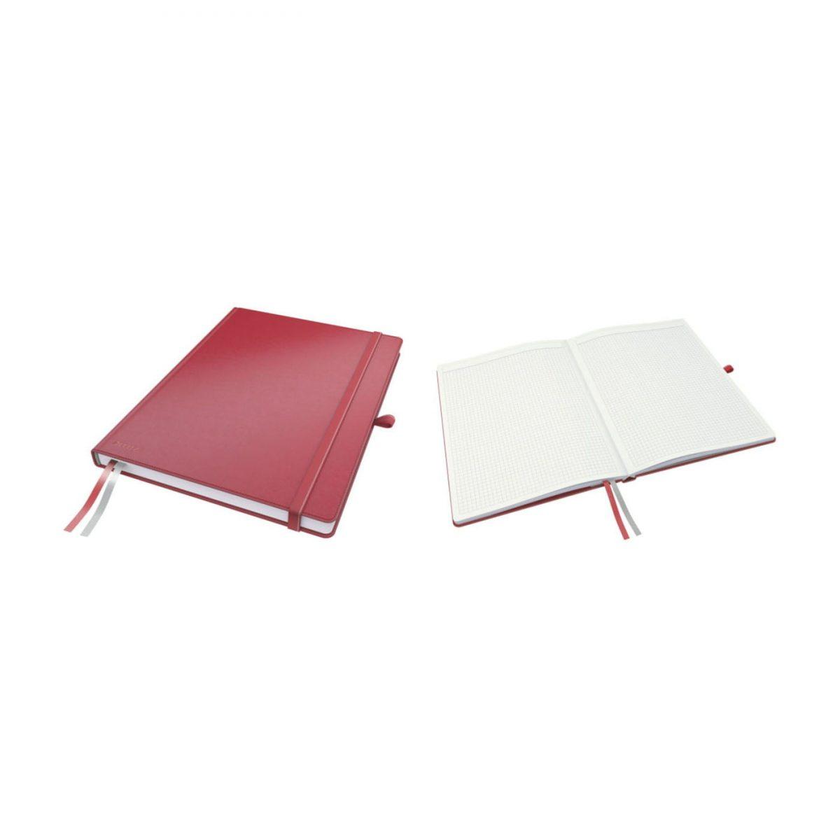 Caiet de birou LEITZ Complete, A4, matematica - rosu