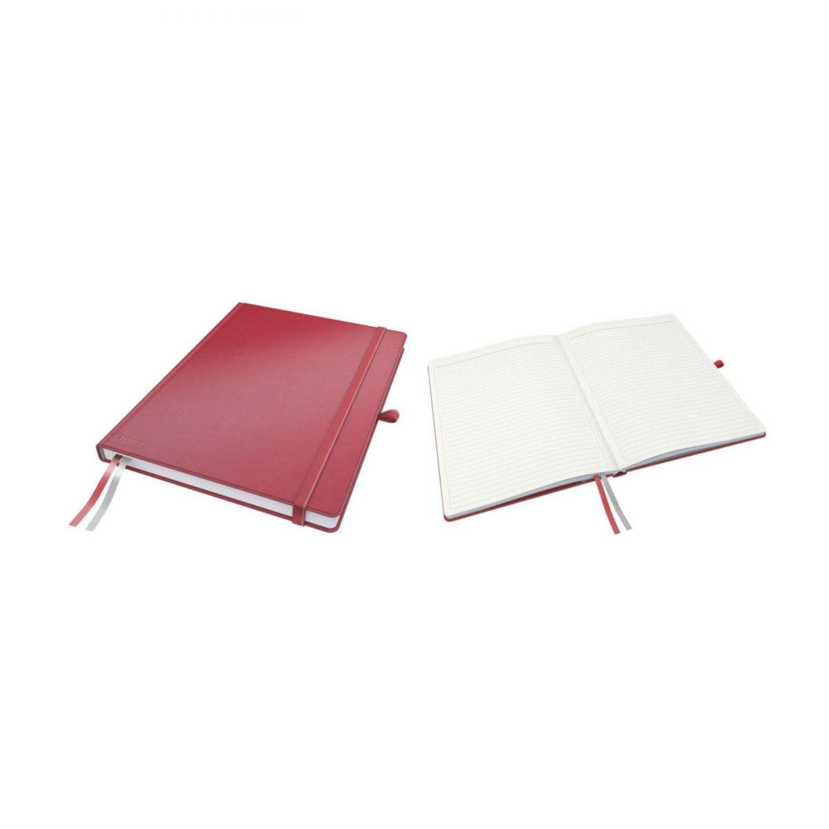 Caiet de birou LEITZ Complete, A4, dictando - rosu