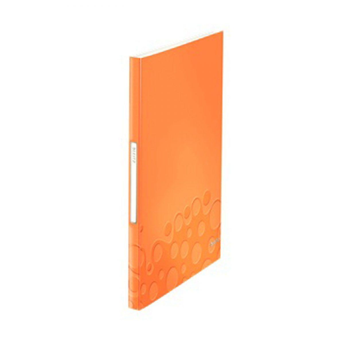 Mapa LEITZ WOW de prezentare, PP, 40 de folii - portocaliu metalizat