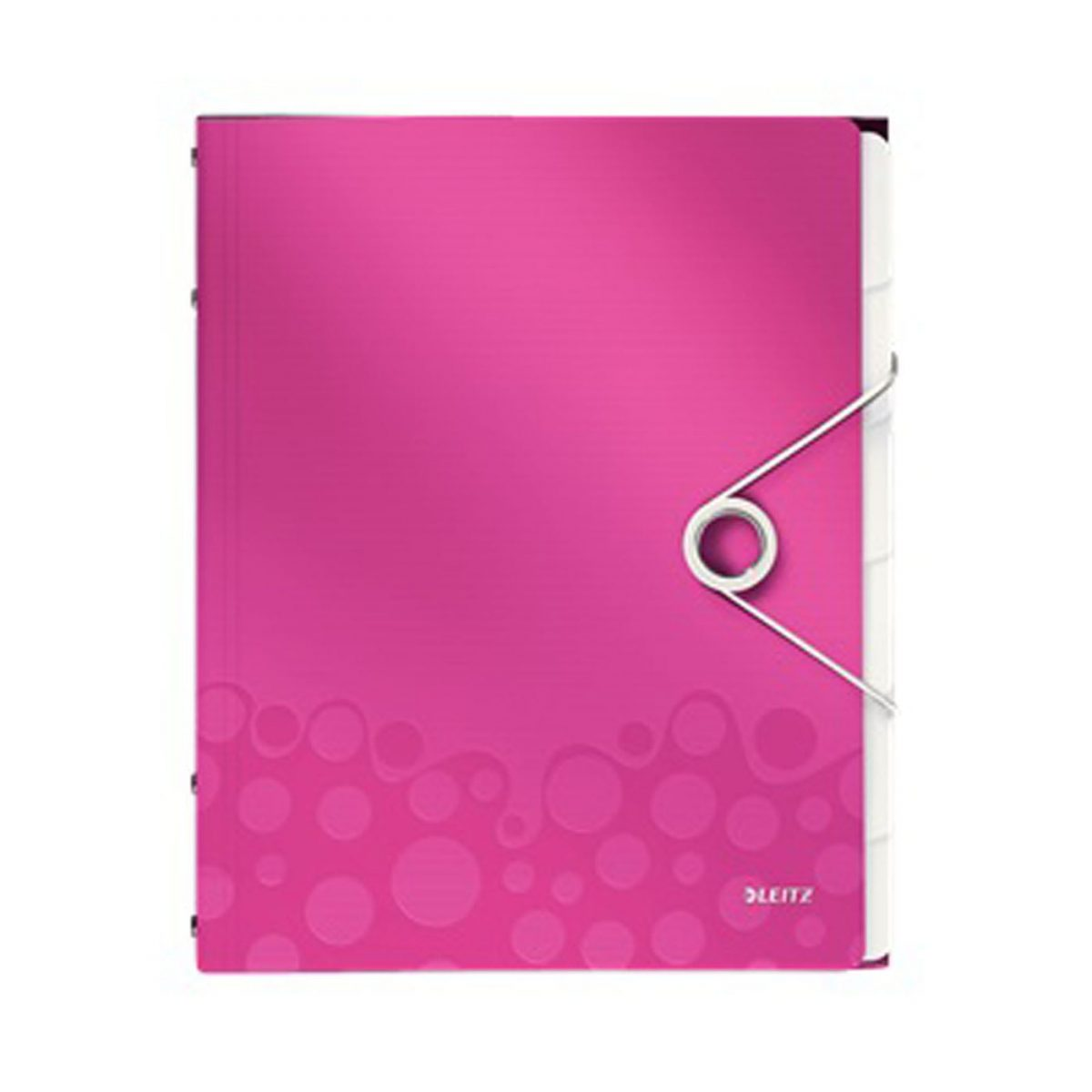 Mapa LEITZ Wow cu 12 separatoare, PP - roz metalizat