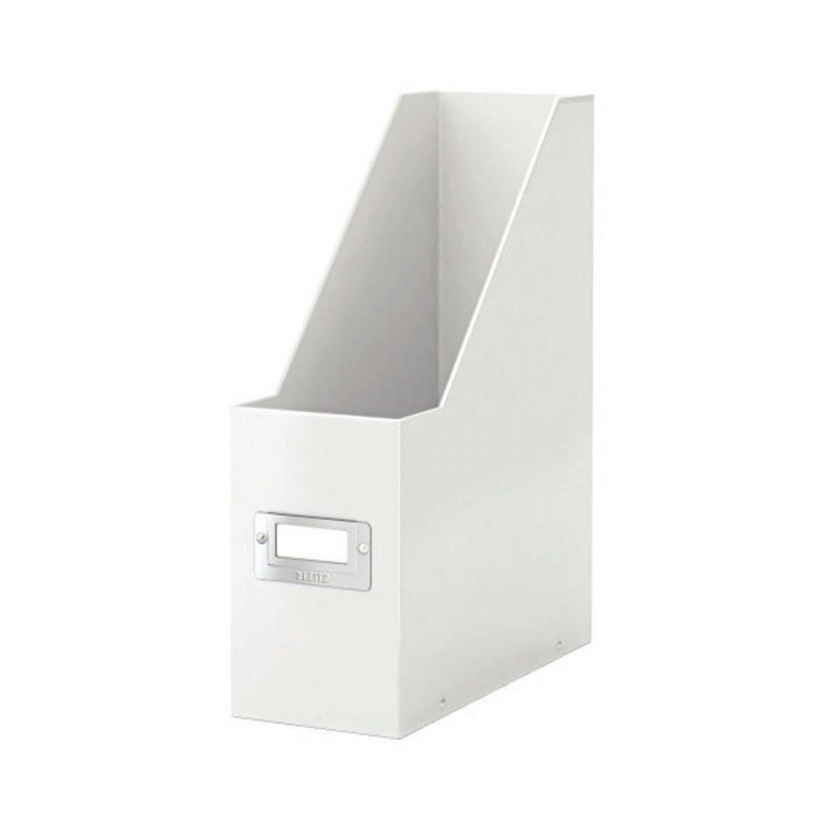 Suport vertical LEITZ Click & Store pentru documente, carton laminat - alb
