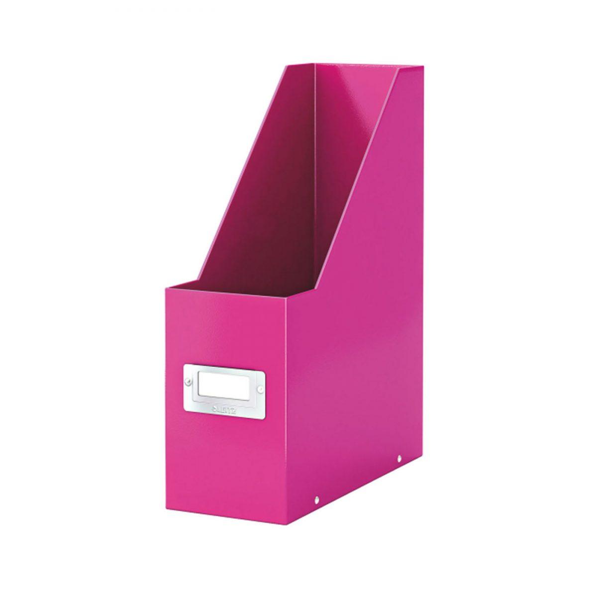Suport vertical LEITZ Click & Store pentru documente, carton laminat - roz