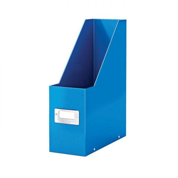 Suport vertical LEITZ Click & Store pentru documente, carton laminat - albastru