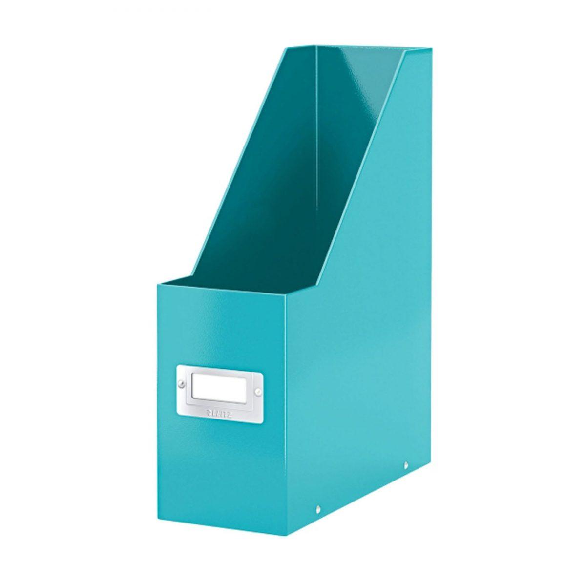 Suport vertical LEITZ Click & Store pentru documente, carton laminat - turcoaz