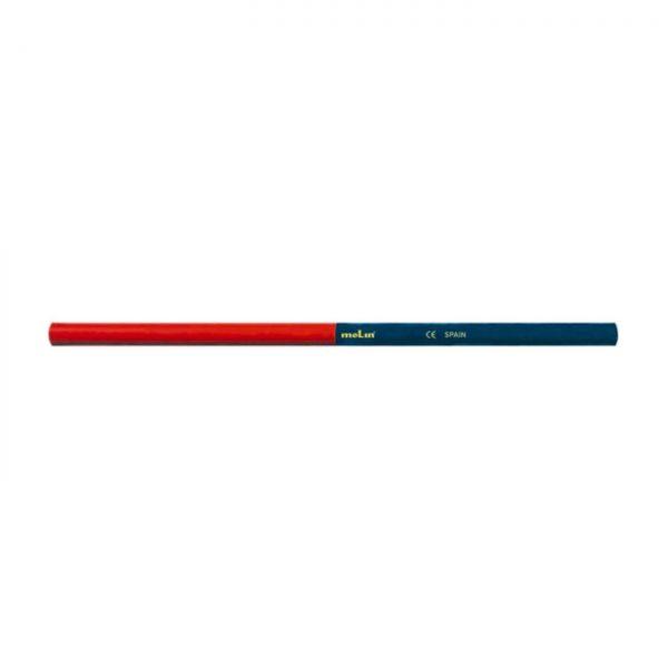 Creion bicolor rosu-albastru, MOLIN , 12 buc/set