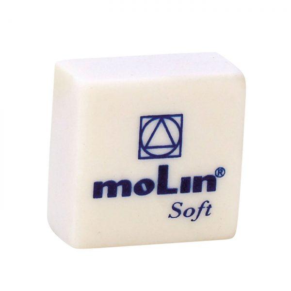 Radiera alba din plastic, MOLIN