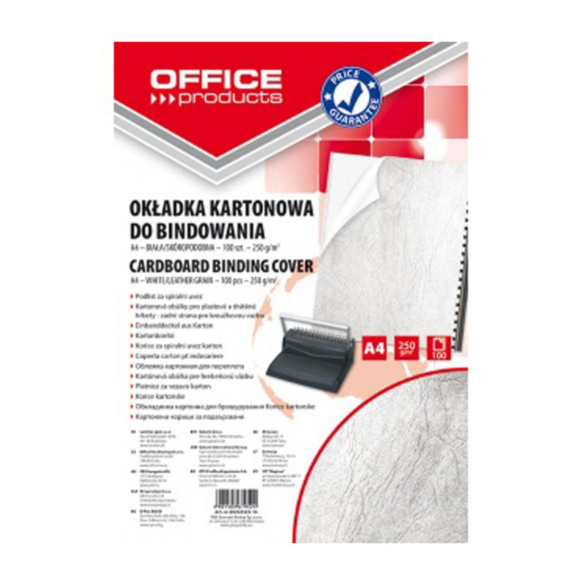Coperta carton imitatie piele 250g/mp, A4, 100/top Office Products