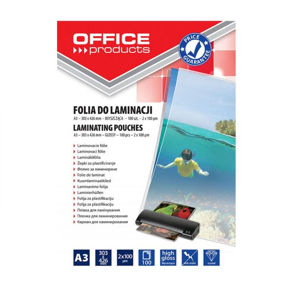 Folie laminare A3, 100 microni 100buc/top Office Products