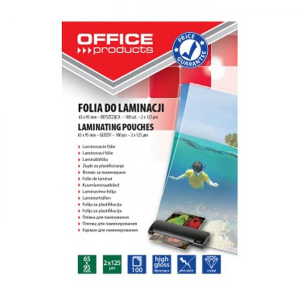 Folie laminare 65 x 95 mm, 125 microni 100buc/top Office Products
