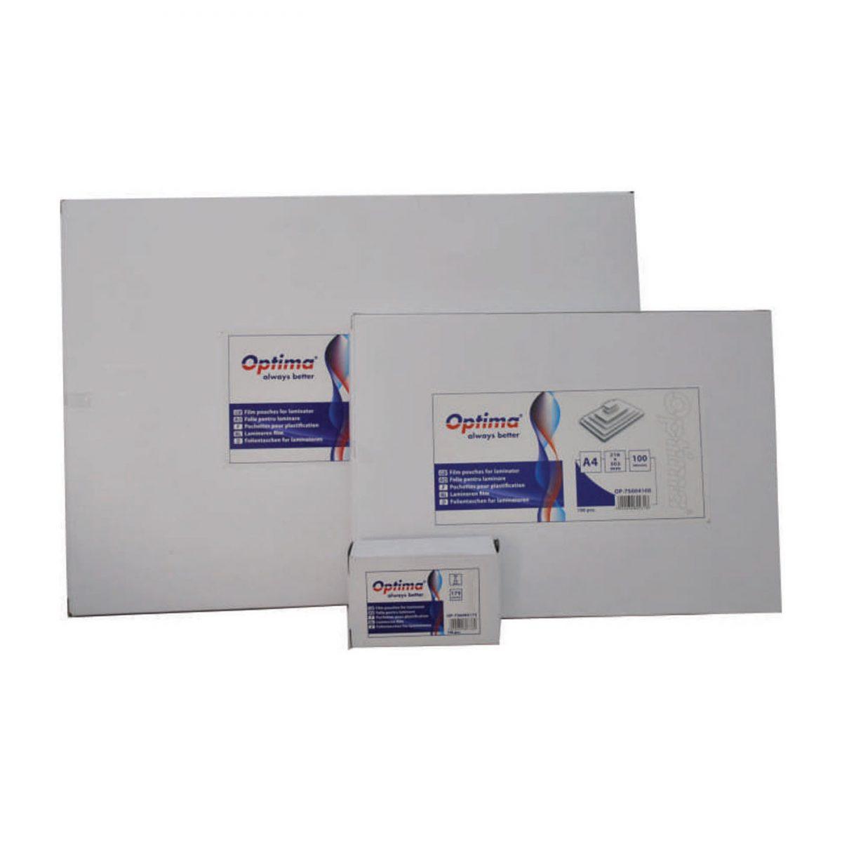 Folie pentru laminare, A4 (216 x 303 mm), 175 microni 100buc/top Optima