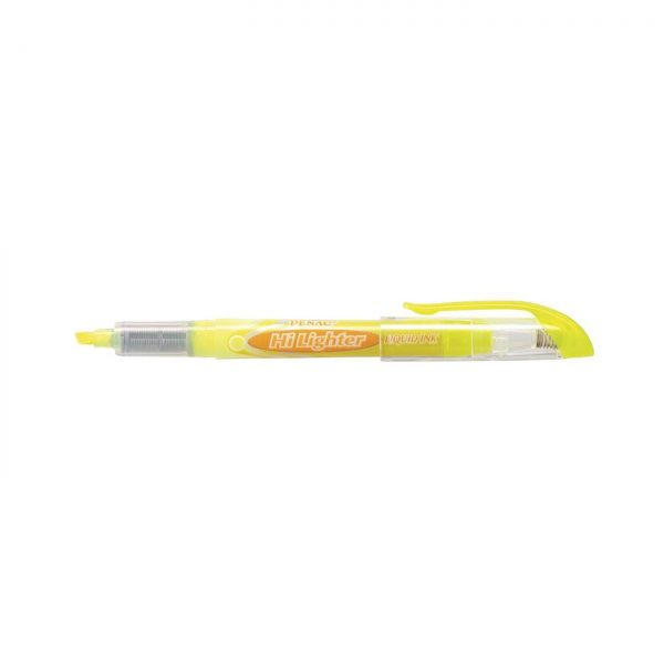 Textmarker cu cerneala PENAC Liqliner, varf 1-4 mm - galben