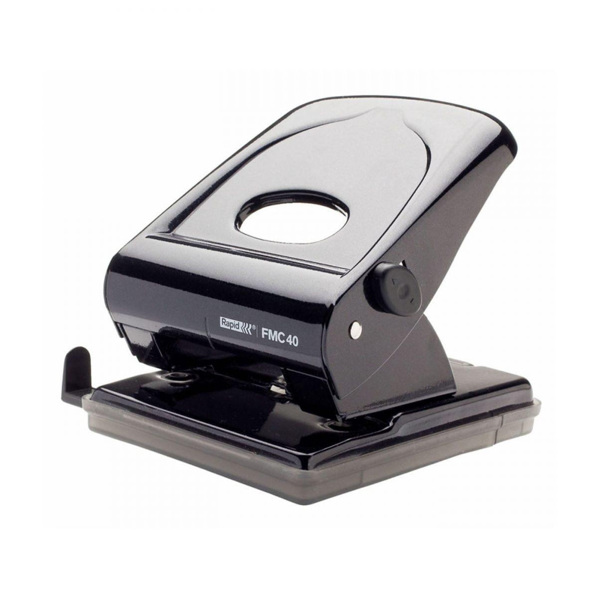 Perforator metalic RAPID FMC40, 40 coli - negru