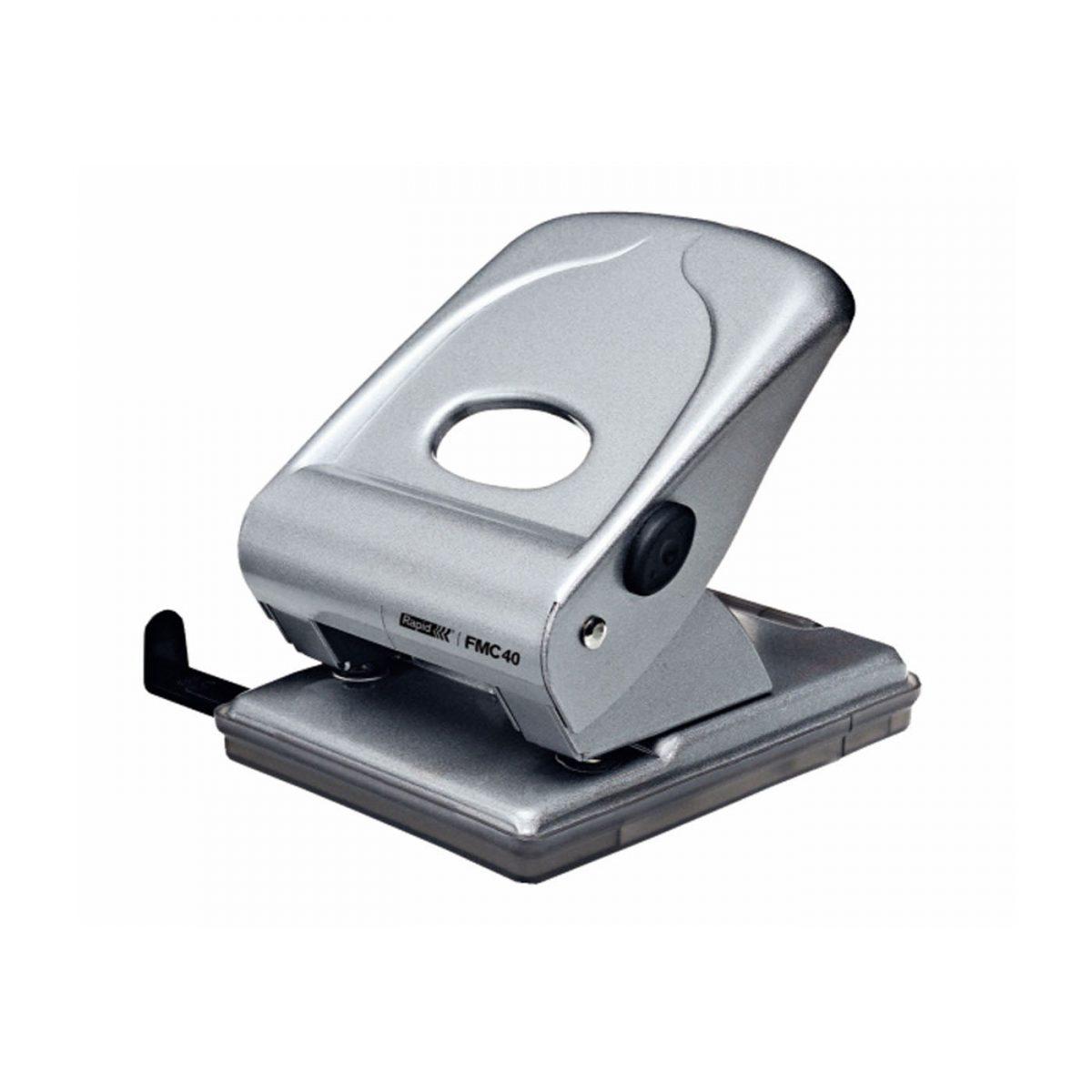 Perforator de birou, 40 coli, metal, Rapid FMC40