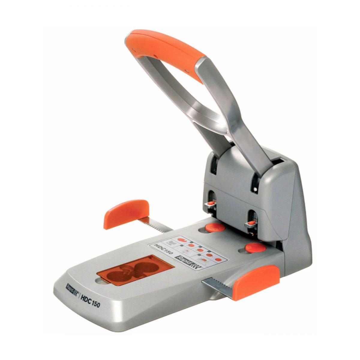 Perforator RAPID Supreme HDC 150/2, 150 coli - argintiu/portocaliu
