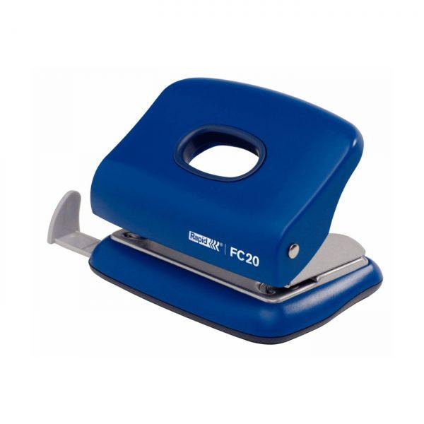 Perforator plastic RAPID FC20, 20 coli - albastru