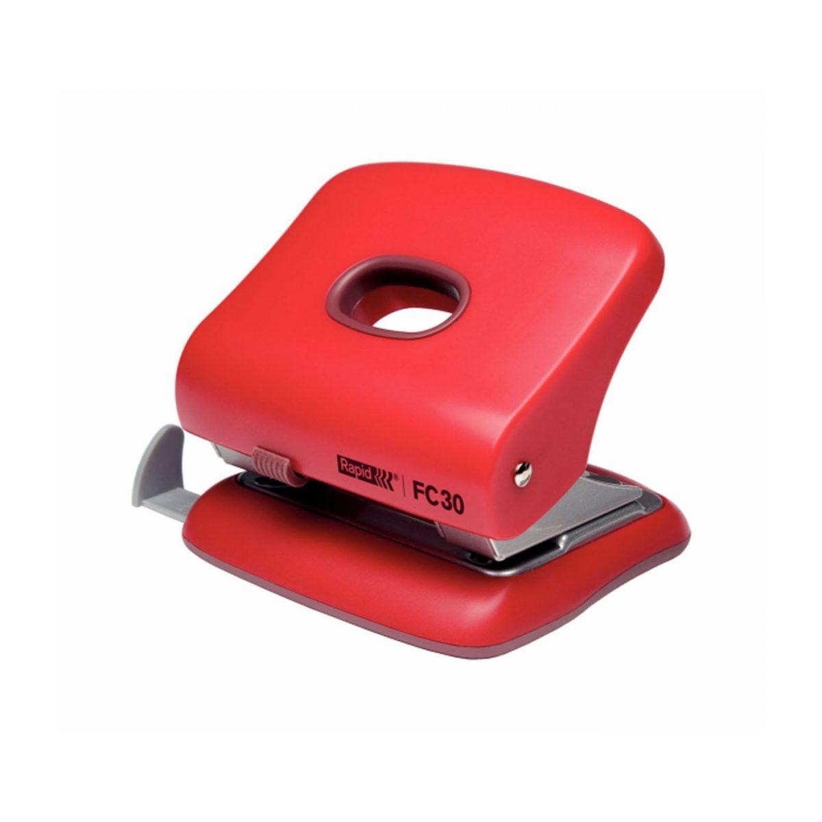Perforator plastic RAPID FC20, 20 coli - rosu