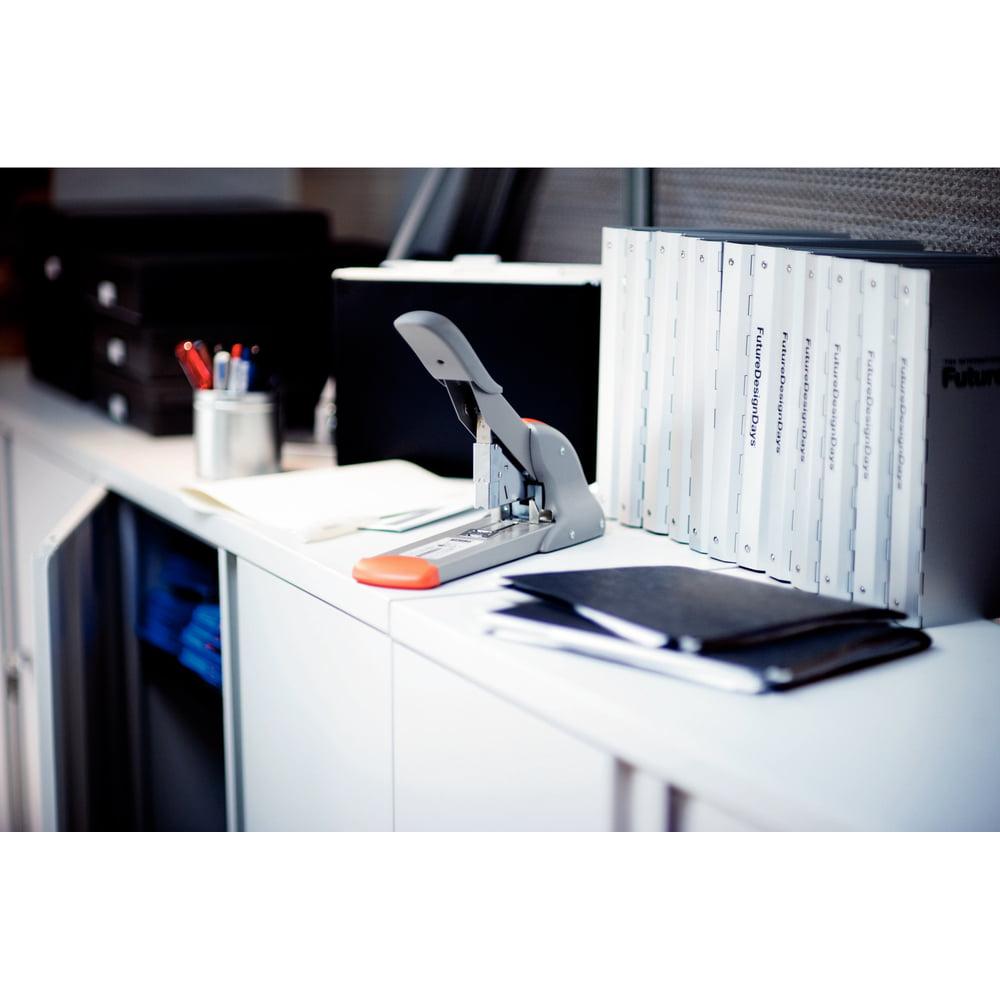 Capsator profesional 210 coli RAPID Fashion HD 210, argintiu/portocaliu