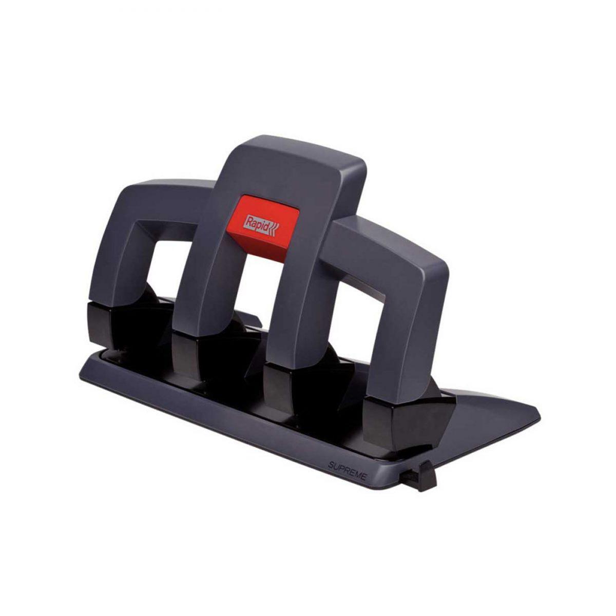 Perforator plastic RAPID Supreme SP34 PressLess, cu 4 perforatii, 30 coli