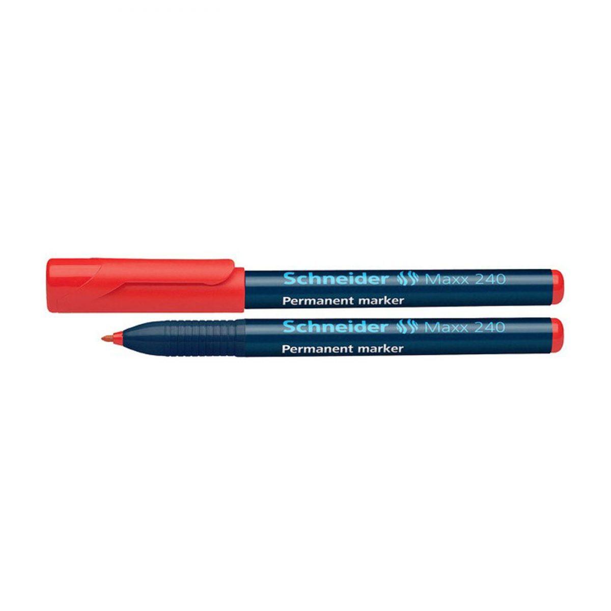 Permanent marker SCHNEIDER Maxx 240, varf rotund 1-2mm - rosu