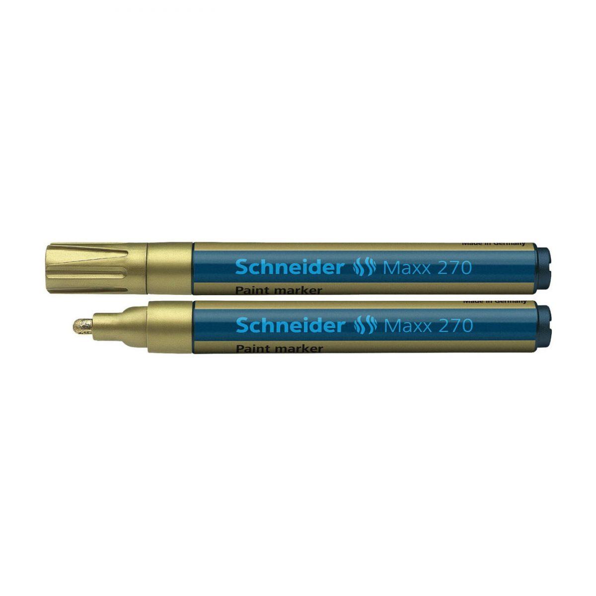 Marker cu vopsea SCHNEIDER Maxx 270, varf rotund 1-3mm - auriu