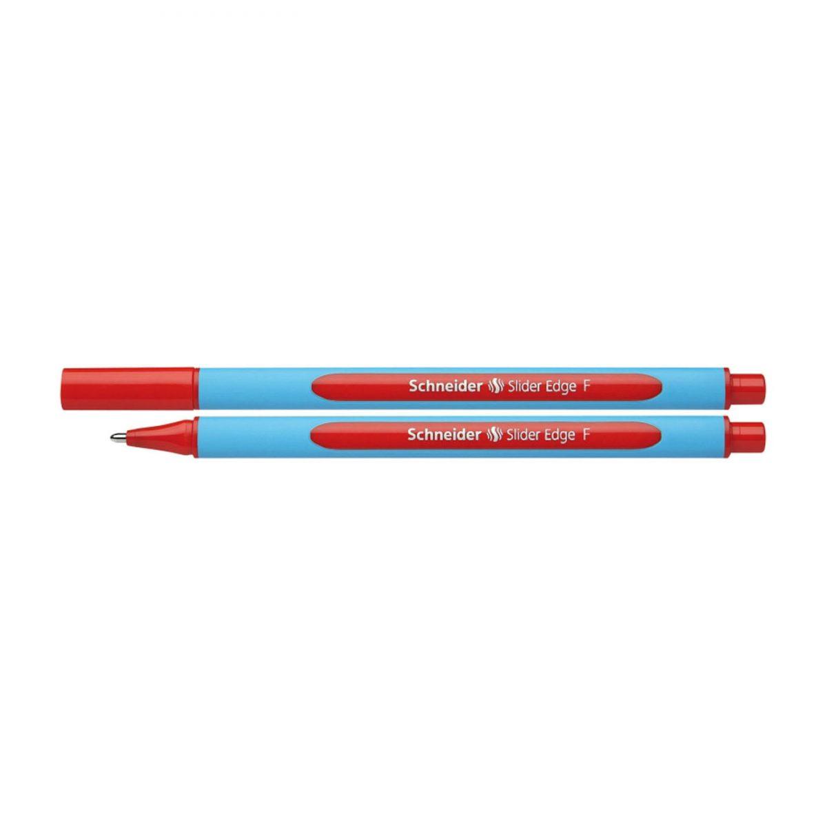 Pix SCHNEIDER Slider Edge F, rubber grip, varf fin - scriere rosie