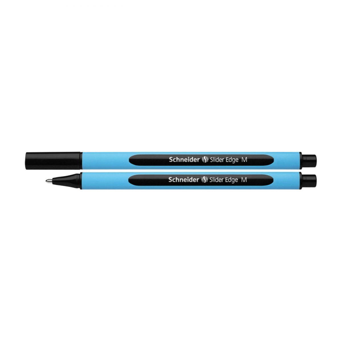 Pix SCHNEIDER Slider Edge M, rubber grip, varf mediu - scriere neagra