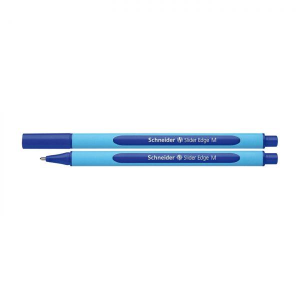 Pix SCHNEIDER Slider Edge M, rubber grip, varf mediu - scriere albastra