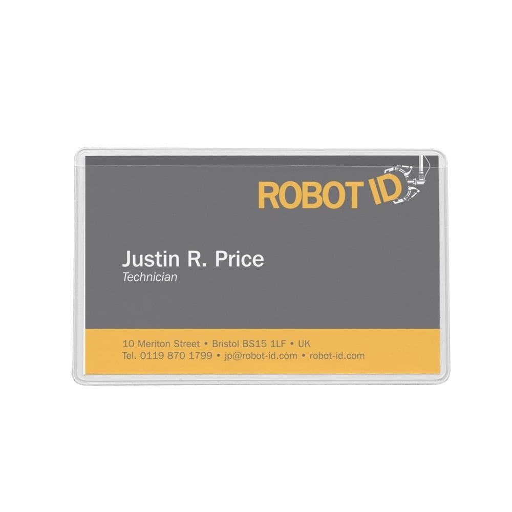Buzunar autoadeziv pentru carti de vizita, acces vertical, 95 x 60mm, 10/set, PROBECO
