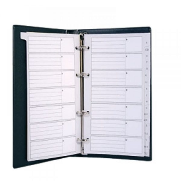 Agenda telefonica cu inele, 140 x 90 mm, cu index, KANGARO