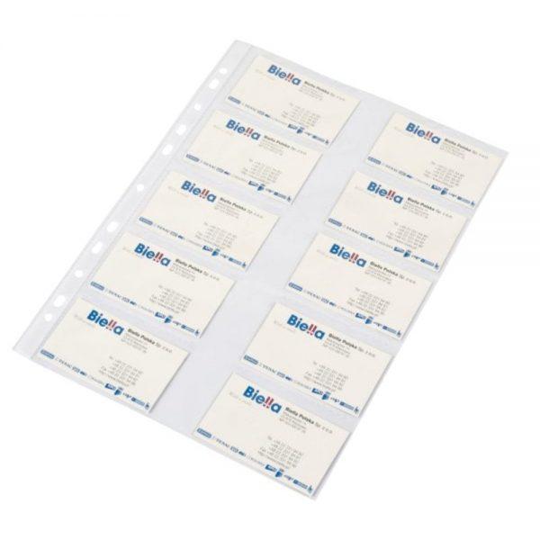 Folie protectie pentru 20 carti de vizita, 120 microni, 10/set, DONAU - cristal