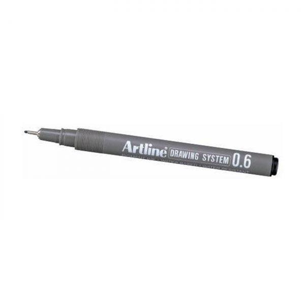 Marker pentru desen tehnic ARTLINE, varf fetru 0.6mm - negru