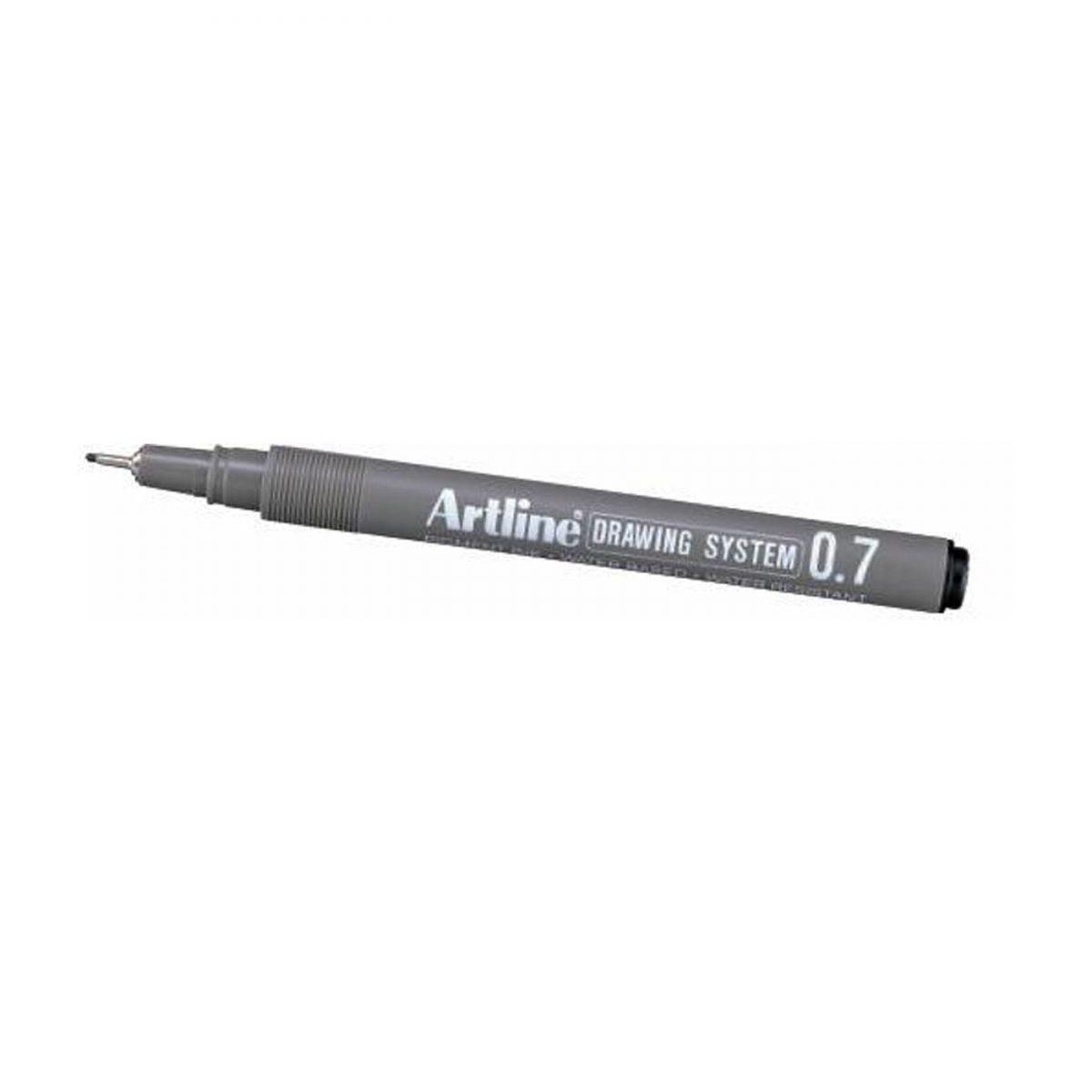 Marker pentru desen tehnic ARTLINE, varf fetru 0.7mm - negru