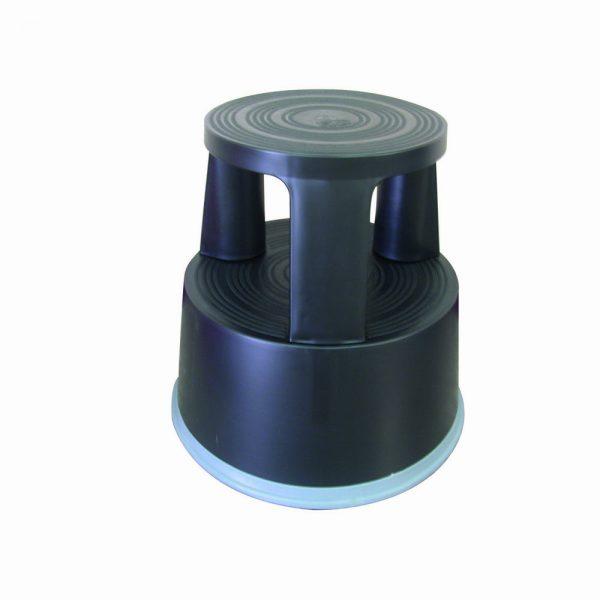 Taburet plastic pentru rafturi inalte, Q-Connect - negru