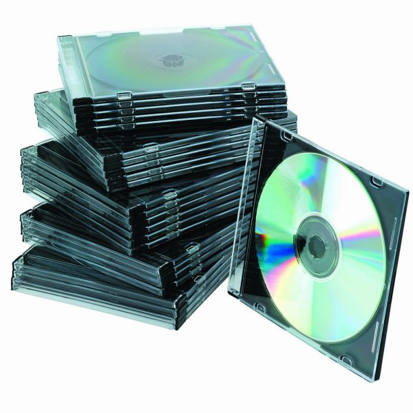 Carcasa slim CD/DVD, 25 buc/set, OMEGA