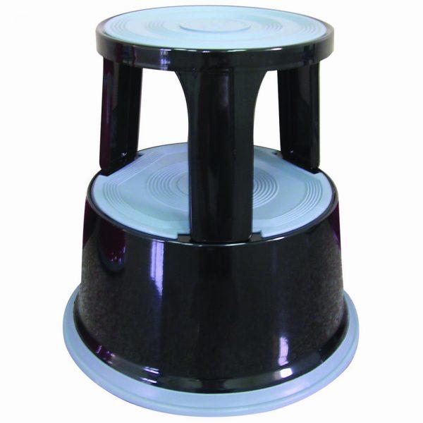 Taburet metalic pentru rafturi inalte, Q-Connect - negru