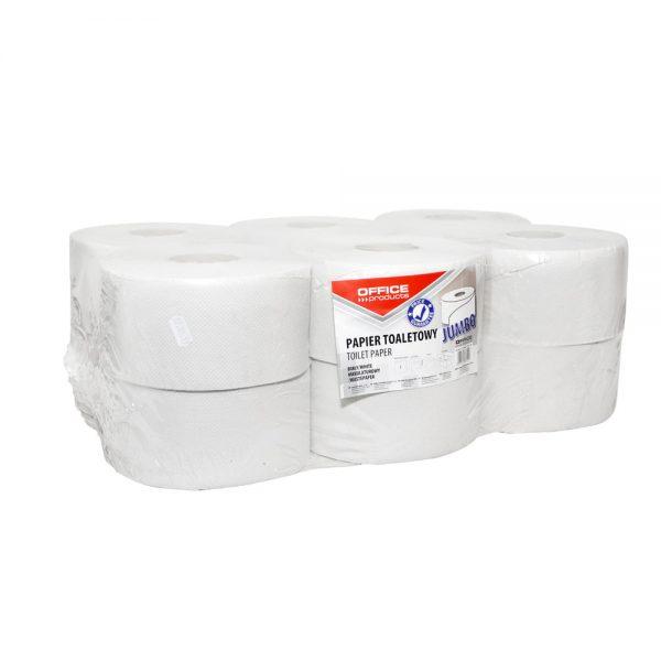 Hartie igienica OFFICE PRODUCTS Jumbo reciclata, 1 strat, 120 m/rola, 12 role/set