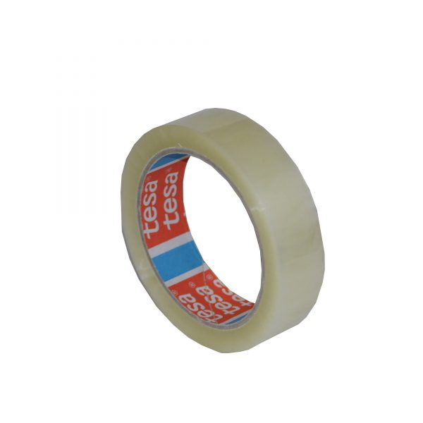 Banda adeziva acrilica 25mm x 66m, transparenta, Tesa