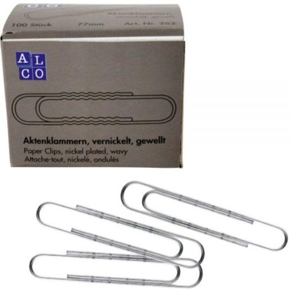 Agrafe ondulate 77 mm, 100/cutie, ALCO