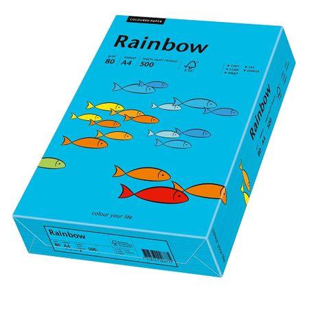 Hartie A4 colorata, 80 g/mp, Rainbow, 500 coli/top, albastru intens