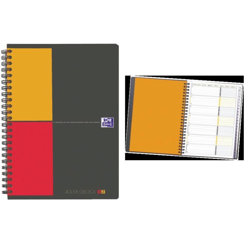 Caiet cu spirala A5, OXFORD Int. Addressbook, 72 file - 80g/mp, coperta PP - dictando