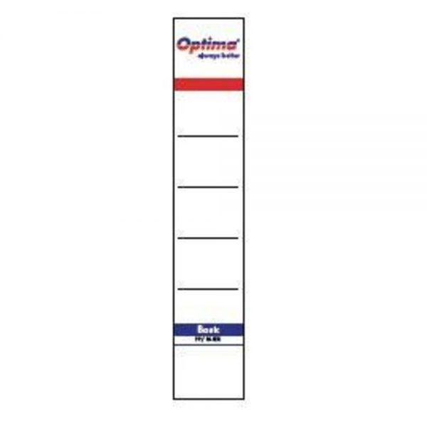 Etichete albe pentru biblioraft 50 mm , 10/set, Optima